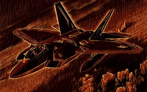 Preview wallpaper of Lockheed Martin F-22 Raptor, Art, Military