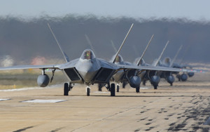 Preview wallpaper Aircraft, Jet Fighter, Lockheed Martin F-22 Raptor