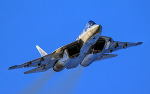 Preview wallpaper of Aircraft, Jet Fighter, Sukhoi Su-57, Warplane