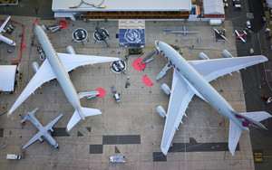Preview wallpaper of Airbus A350, Airbus A380, Aircraft, Helicopter