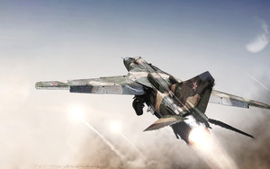 Preview wallpaper of Aircraft, Jet Fighter, Mikoyan-Gurevich, MiG-23