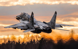 Смотреть обои Aircraft, Jet Fighter, Mikoyan MiG-29, Warplane