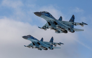 Preview wallpaper  Jet Fighter, Sukhoi Su-27, <b>Ukrainian</b> Air Force