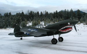 Смотреть обои Aircraft, Curtiss P-40 Warhawk, Military, Snow
