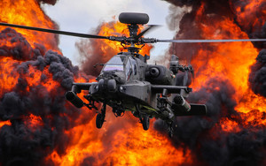 Preview wallpaper of Aircraft, Attack Helicopter, Boeing AH-64 Apache