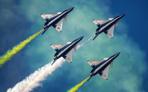 Preview wallpaper of Air Show, Aircraft Chengdu J-10,Jet Fighter