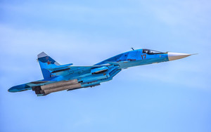Preview wallpaper of Aircraft, Jet Fighter, Sukhoi Su-34, Warplane