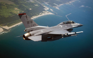 Preview wallpaper of General, Dynamics, F-16 Fighting, Falcon, Jet Figh