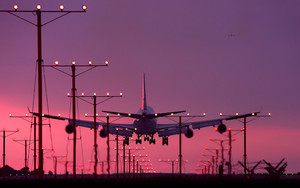 Preview wallpaper of Aircraft, Airplane, Landing, Strip, Airport
