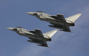 Смотреть обои Aircraft, Eurofighter, Typhoon, Jet Fighter
