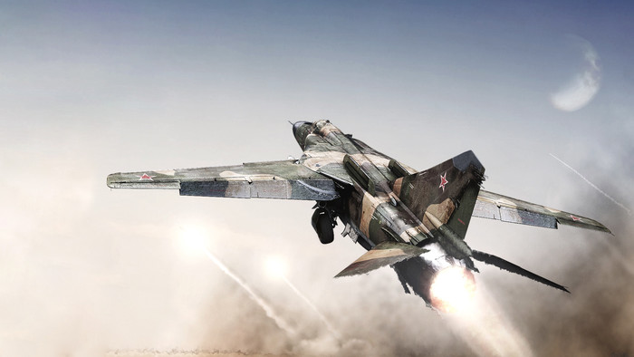 HD Wallpaper of Aircraft, Jet Fighter, Mikoyan-Gurevich, MiG-23
