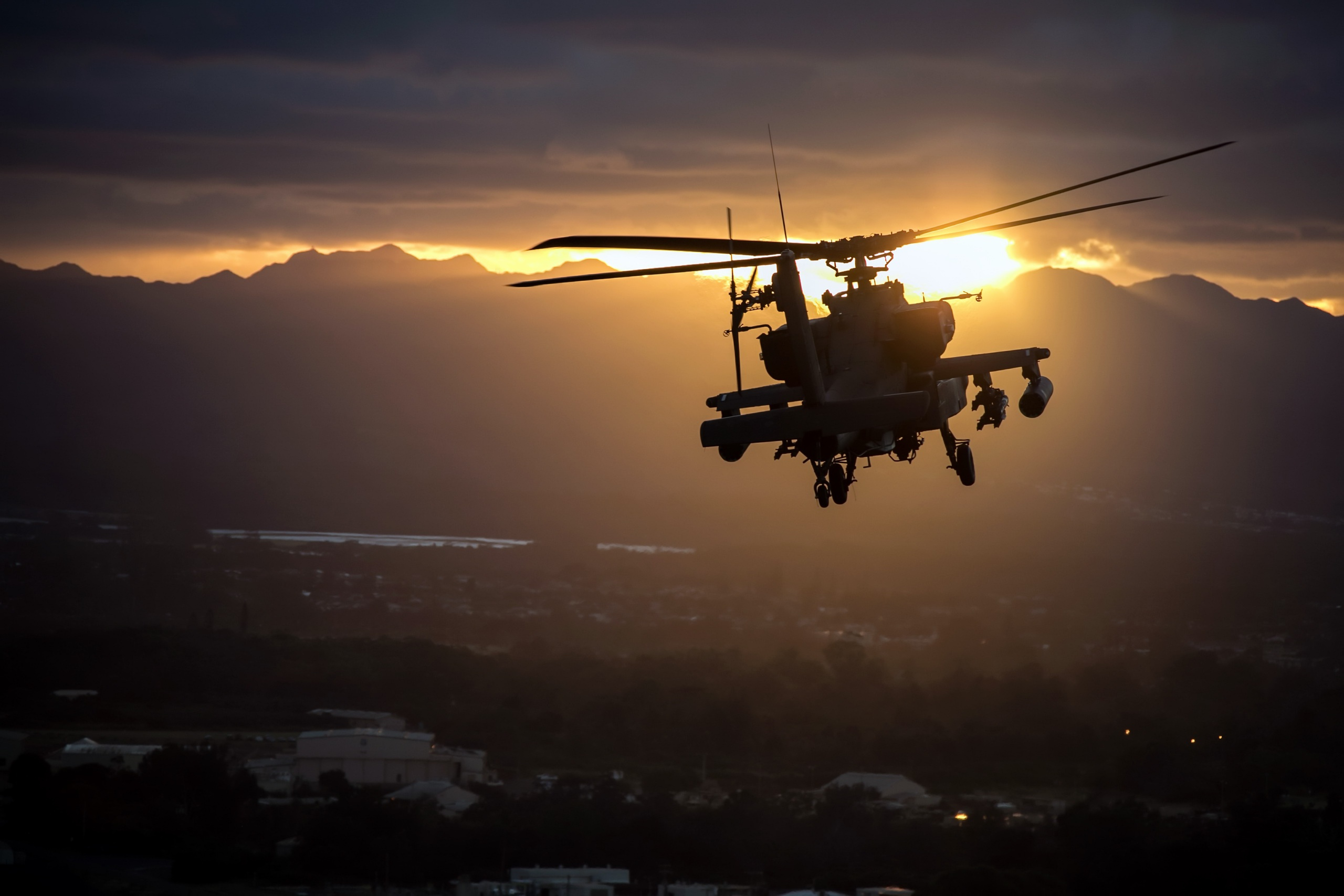 Wallpaper Of Aircraft Attack Helicopter Boeing Ah 64 Apache