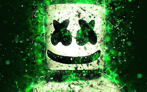 Preview wallpaper of Marshmello, Green, Music