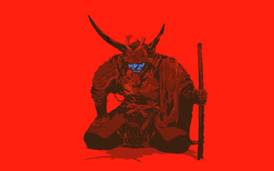 Preview wallpaper of Music, Red, Samurai, Cannibal Ox