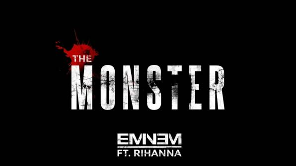 HD Wallpaper of the monster, eminem, rihanna, песня