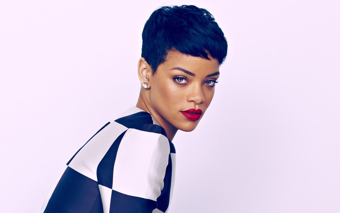 Wallpaper of Barbadian, Black Hair, Lipstick, Rihanna background & HD image