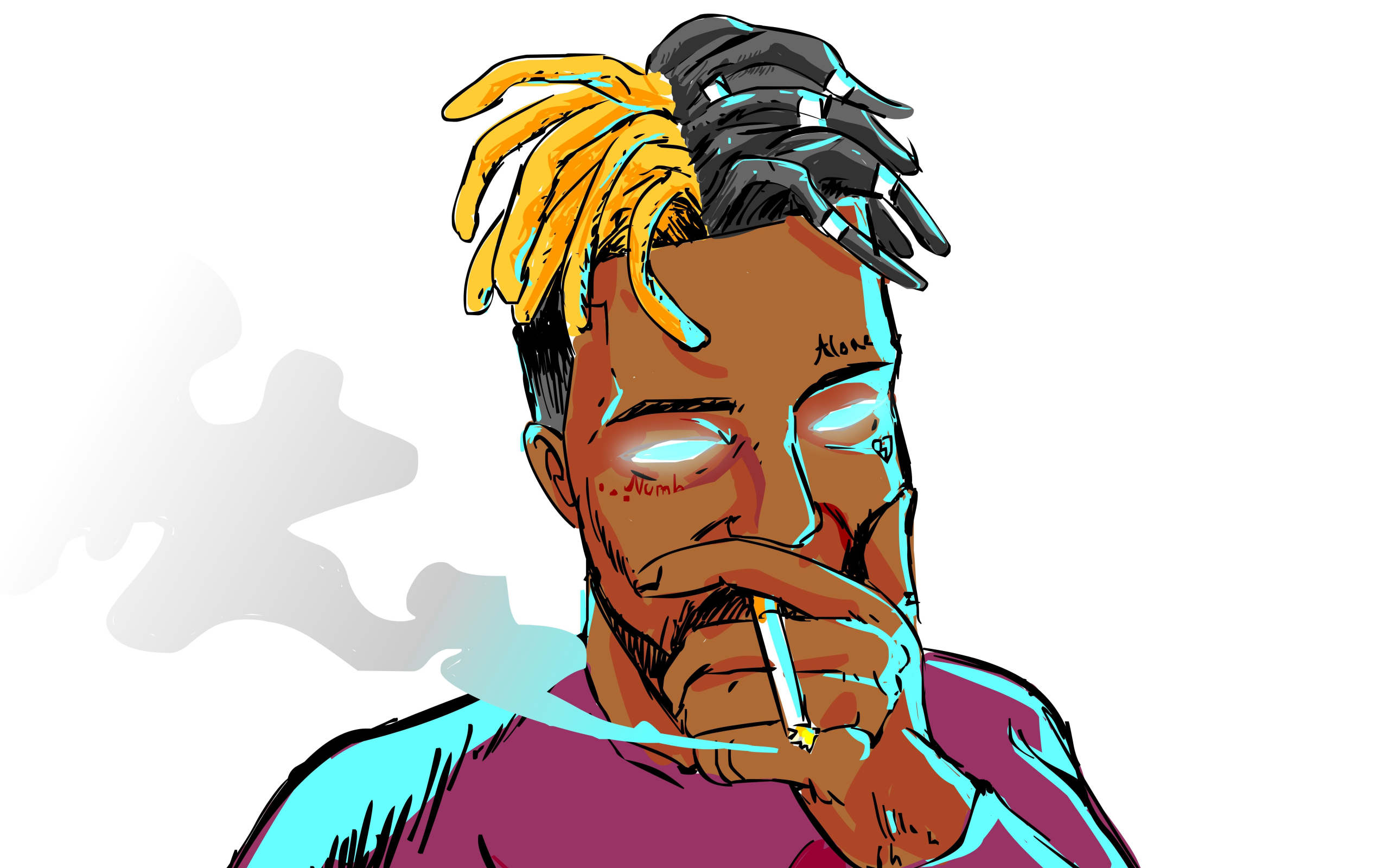 Wallpaper Music Xxxtentacion Art Smoke Desktop Picture Hd Photo