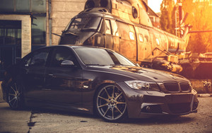 Preview wallpaper of BMW, Helicopter, APC