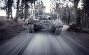 Preview wallpaper of Leopard 2, Motion, Blur, Tank