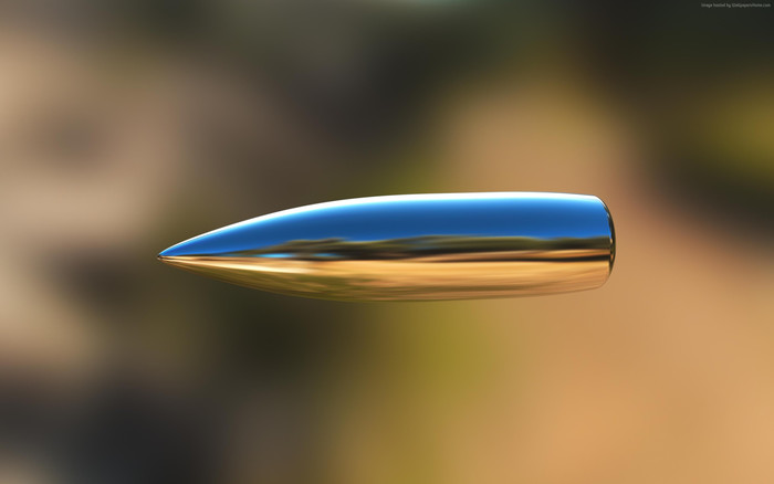 HD Wallpaper of Bullet, Blur, Reflection
