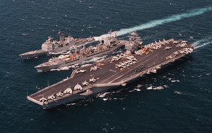 Preview wallpaper of George Washington, military, aircraft carrier