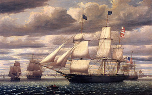 Preview wallpaper of Clipper Ship Southern Cross Leaving Boston, art