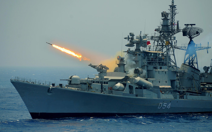 Wallpaper of Destroyer, INS Ranvir, Indian Navy, Warship background & HD image