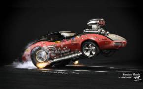 Preview wallpaper  <b>American</b> Muscle Chevrolet Corvette от Hot Rod