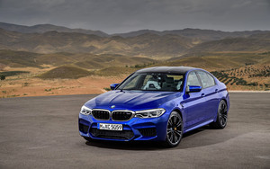 Preview wallpaper of BMW M5, Blue, Car, Luxury