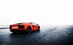 Смотреть обои Lamborghini Aventador LP700-4 LB834 orange