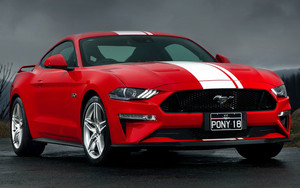 Смотреть обои Car, Ford Mustang GT,  MuscleCar, Red
