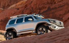 Смотреть обои Mercedes-Benz, Ener-G-Force, Concept, горы