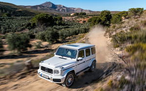 Смотреть обои Mercedes-Benz G63, SUV, Vehicle, White, Car