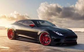 Смотреть обои Jaguar X-C16, concept, virtual tuning
