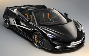 Смотреть обои Black, Car, McLaren 570S Spider Design Edition
