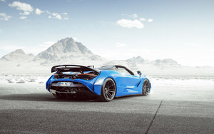 Preview wallpaper of Blue, Car, McLaren, McLaren 720S Spider, Sport Car