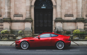 Preview wallpaper of aston martin, callum vanquish, red