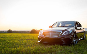 Preview wallpaper of Car, Black, Mercedes-Benz S63 AMG