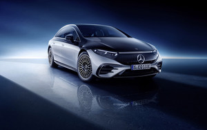 Preview wallpaper of Car, Electric, Luxury, Mercedes-Benz EQS, Silver