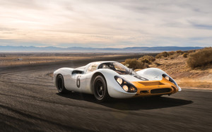 Смотреть обои Porsche 908, SportCar, Vehicle, Car, White, Yellow