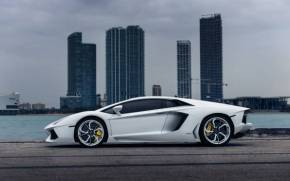 Смотреть обои Lamborghini Aventador, Vellano MC Customs,Towers
