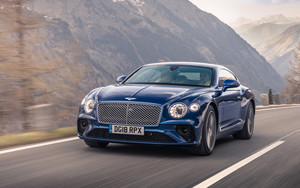 Preview wallpaper of Bentley Continental GT, Blue,Car, Luxury