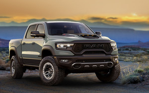 Preview wallpaper of Car, Off-Road, Pickup, Ram 1500 TRX, Silver