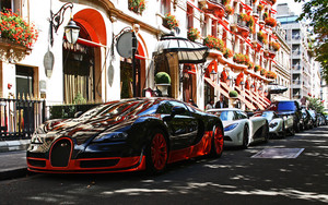 Смотреть обои Vehicles, Bugatti Veyron, SuperCar, Road, Street