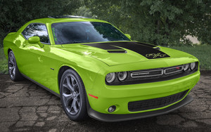 Смотреть обои Challenger, Dodge, RT, Green, Vehicles, Car