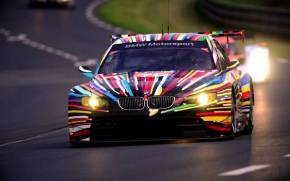 Preview wallpaper of BMW M3 GT2, 24h Le Mans, разноцветная, передок