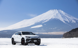 Preview wallpaper Car, Lamborghini, Urus, Mountain, SUV, White