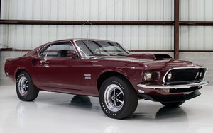 Preview wallpaper of Fastback, Ford Mustang Boss 429, MuscleCar, Red