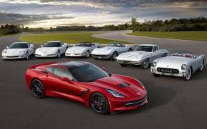 Смотреть обои Chevrolet, Corvette, Stingray, эволюция