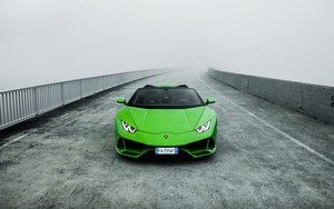 Preview wallpaper Car, Lamborghini Huracan Evo, Green, SuperCar